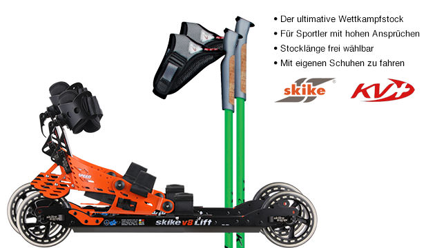 Nordic Cross Skates Skike v8 LIFT Speed Skike v8 LIFT Set mit KV+ CH-1 Stöcken