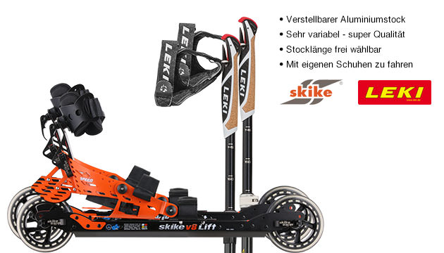 Nordic Cross Skates Skike v8 LIFT Speed Skike v8 LIFT Speed Set mit LEKI Alu Vario CC Stöcken